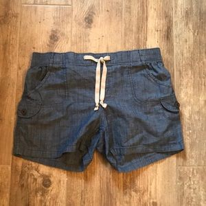 Pants - Chambray Drawstring Shorts S-M